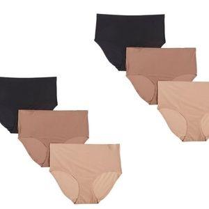 Ellen Tracy Panties Briefs 2X 22/24 6 Solid Panty